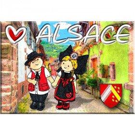 Magnet Décoratif Couple d'Alsacien Coeur d'Alsace