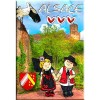 Magnet Dekorative Elsässer Paar mit Stork Alsace