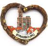 Magnet Décoratif Coeur Écorce Munster Cathédrale de Strasbourg