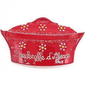 Magnet Décoratif Moule à Baeckeoffe Rouge Alsacien