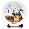 Assiette de Collection en Porcelaine décor Alsace et Support