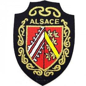 Écusson emblème Armoiries d'Alsace à thermocoller àLa Boite aux Trésors à Obernai