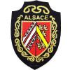 Écusson emblème Armoiries d'Alsace à thermocoller
