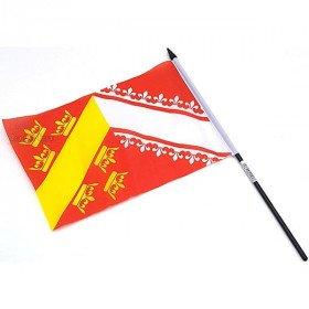 Flagge Alsace 23 cm x 15 cm mit Hampe