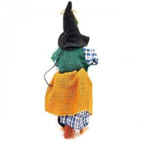 Witch Alsace hängen mit Jute Ocker Schal und Holly 32 cm in La Boite aux