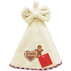 Handtücher-Küche-rund-Naturweiss bestickt Mannele lebkuchen im Elsass 50 cm