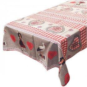 Tischplatte Elsass quadratisch Dekoration Stöcke, Elsass und Herzen des Elsass