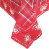 Nappe carrée 90 cm x 90 cm rouge Carré Vichy motif Coeurs