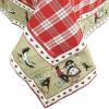 Tischdecke quadratisch 90 x 90 cm Vichy Rot muster Hansi und Störche