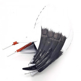 Dekorativer Storch aus Metall 93 cm