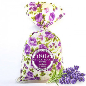 Kissen Lavendel bestickt Stork Alsace