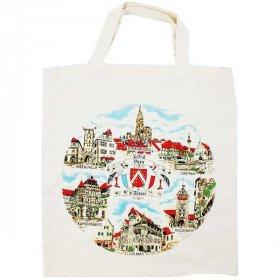 Tote Bag en Coton Villages d'Alsace La Boite aux Trésors à Obernai