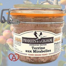 Artisanal terrine with Mirabelles