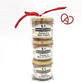 Lot de 3 Terrines d'Alsace Artisanale 3 x 100 gr