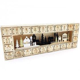 Adventskalender aus Holz mit Led
