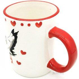 Ceramic mug with Alsatian stork decor La Boite aux Trésors to Obernai