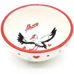 Coupelle en Céramique décor Cigogne d'Alsace