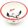 Keramik Abblendkappe Dekor Storch aus Elsass