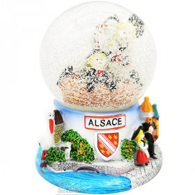 Schneeball-Glasdekoration Stork Alsace