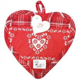 Küche Topflappen Herz rot Vichy auf roten hintergrund Dekor Herzen in La Boite
