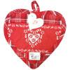 Manique de Cuisine Coeur Vichy rouge sur fond rouge décor Coeurs