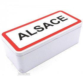 Boite en Métal rectangulaire décor Alsace