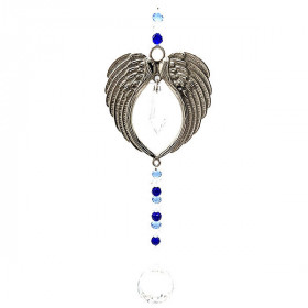 Dekoration Engelsflügel mit Kristallkugel