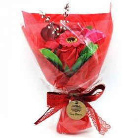 Blumenstrauß In Seifenblättern zu Bieten !