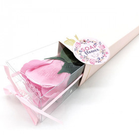 Bieten Sie eine Rosa Rosa in Seifenblättern in La Boite aux Trésors in Obernai