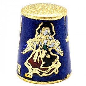 Blauer Sammlerhut aus goldenem Metall mit Wappen, Storch und Elsässer in La