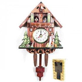 Kuckuck aus Holz mit Uhr Und Uhrwerk