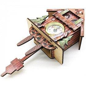 Kuckuck aus Holz mit Uhr Und Uhrwerk in La Boite aux Trésors in Obernai