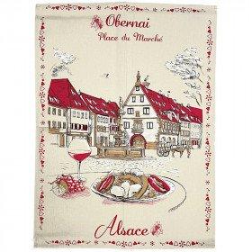 Küchentuch Marktplatz in Obernai