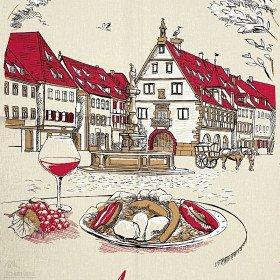 Torchon de Cuisine Place du Marché à Obernai La Boite aux Trésors à Obernai