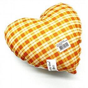 Herzkissen 28 cm Lovely Elsa gepolstert Vichy orange