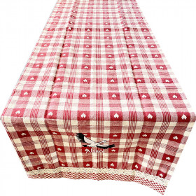 Alsace Table Runner with Flowers decorations 40 cm x 170 cm