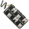 Brieftasche mit Armband Westie Dog Muster Tapisserie-Stil