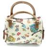 Kleine gemütliche Handtasche mit Eulendekoration, Tapisseriestil