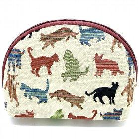 Farbige Katze Tapisserie Reißverschlusstasche