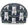 Westie Dog Reißverschlusstasche im Tapisserie-Stil