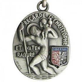 Schlüsselanhänger St. Christopher und Aufnäher von Obernai