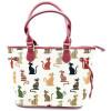 Große Handtasche mit Katzendekoration in Farbe Tapisseriestil