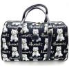 Große Handtasche mit Westies Dog Dekor Tapisserie-Stil