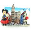 Magnet Décoratif Alsacienne et Cathédrale de Strasbourg