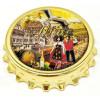Magnet décapsuleur doré Couple d'Alsacien
