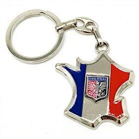 Schlüsselanhänger Frankreichkarte mit Obernai Ecusson