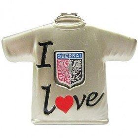 Schlüsselanhänger Metall-T-Shirt I Love Obernai