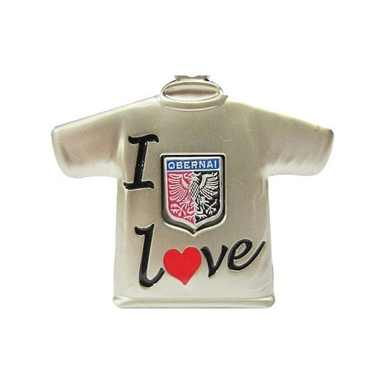 Retrouvez Porte Clé Métal Tee Shirt I Love Obernai à Obernai