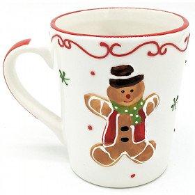 Mug à Café en Céramique décor Mannele Pain d'Épices