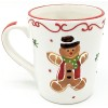 Keramik Kaffeebecher Mannele Lebkuchendekor